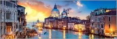 Premium poster  Venice in the evening - Art Couture