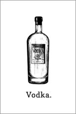 Premium poster  Vodka bottle - Typobox