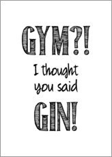 Acrylic print  Gym or Gin - Typobox