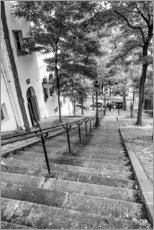 Aluminium print  Endless steps to Montmartre