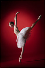 Premium poster Dancer on red