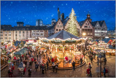 Canvas print  Christmas market on the Römerberg, Frankfurt, Hesse, Germany - Jan Christopher Becke