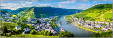 Canvas print  Mosel valley in the sunshine - Art Couture