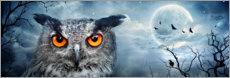 Canvas print  Owl in the moonlight - Art Couture