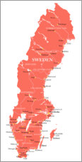 Canvas print  Sweden coral