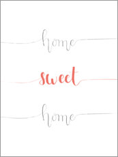 Canvas print  Home sweet home - Typobox