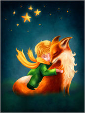 Acrylic print  The Little Prince and The Fox - Elena Schweitzer