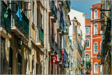 Canvas print  Beautiful Architecture In Downtown Lisbon City During Summer - Radu Bercan