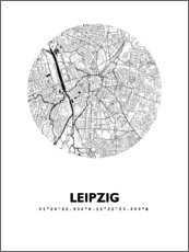 Acrylic print  City map of Leipzig - 44spaces