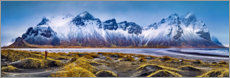 Canvas print  At the foot of the mountains - Iceland - Art Couture