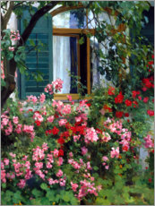 Acrylic print  At the flower window - Franz Grässel