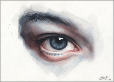 Canvas print  Eye study in watercolors - Miroslav Zgabaj