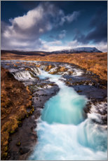 Premium poster Bruarfoss waterfall on Iceland