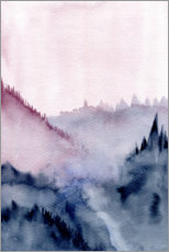 Premium poster Abstract Mountains