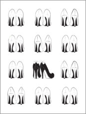 Acrylic print  High Heels Collection - Martina illustration