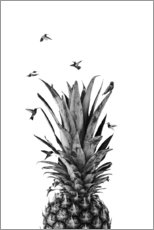 Premium poster Pineapple birds