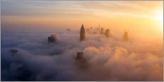 Canvas print  Frankfurt am Main in the fog - Haussmann Visuals