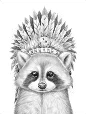 Premium poster Raccoon chief