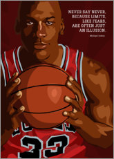 Wall sticker  Michael Jordan - Nikita Abakumov