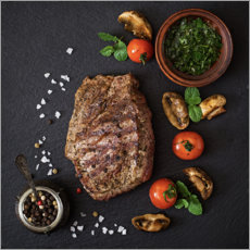 Acrylic print  Season Steak Properly