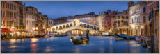 Premium poster Rialto Bridge and Grand Canal
