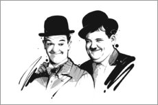 Premium poster Laurel and Hardy