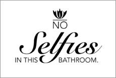 Foam board print  No selfies in this bathroom - Typobox