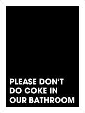 Aluminium print  Please don't do coke - Typobox