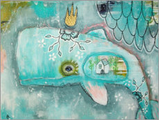 Gallery print  Little whale in the ocean of dreams - Micki Wilde