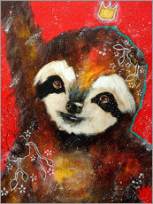 Canvas print  A heart filled with joy - Sloth - Micki Wilde