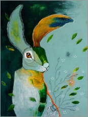 Wall sticker Abstract hare in wind