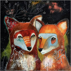 Premium poster  Foxes - Home is where you are - Micki Wilde