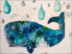 Gallery print  Submerge - Abstract whale - Micki Wilde