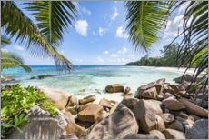 Premium poster Holidays in the Seychelles