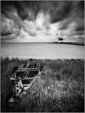 Wood print  Lighthouse Marken in the Netherlands - Kristian Goretzki