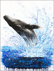 Premium poster Whale Ocean Waves