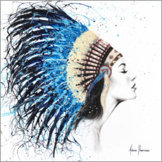 Premium poster Woman with headdress
