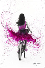 Premium poster Pink cyclist