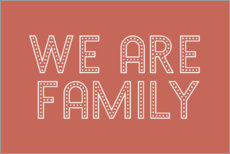 Premium poster We are family