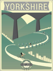 Premium poster Tour De Yorkshire Bicycle Race