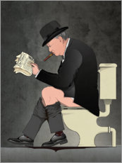 Premium poster  Churchill on the toilet - Wyatt9