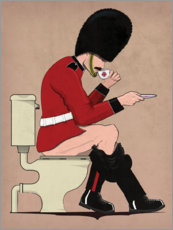 Foam board print  Beefeater on the Toilet - Wyatt9