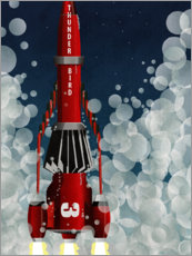 Premium poster Thunderbird 3, Space Rocket Launch