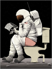 Premium poster  Astronaut on the toilet - Wyatt9