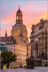 Canvas print  Dresdner Frauenkirche in the evening light - Robin Oelschlegel