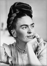 Canvas print  Thoughtful Frida - Celebrity Collection