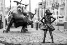 Aluminium print  Fearless Girl and Wall Street Bull - Art Couture
