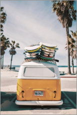 Aluminium print  Surfer Van - Florida feeling - Art Couture