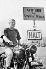 Canvas print  Steve McQueen in The Great Escape - Celebrity Collection
