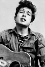 Wall sticker  Bob Dylan with guitar - Celebrity Collection